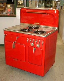 1952 Red Chambers Stove