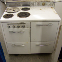 unrestored antique stoves1948 hotpoint electric stove