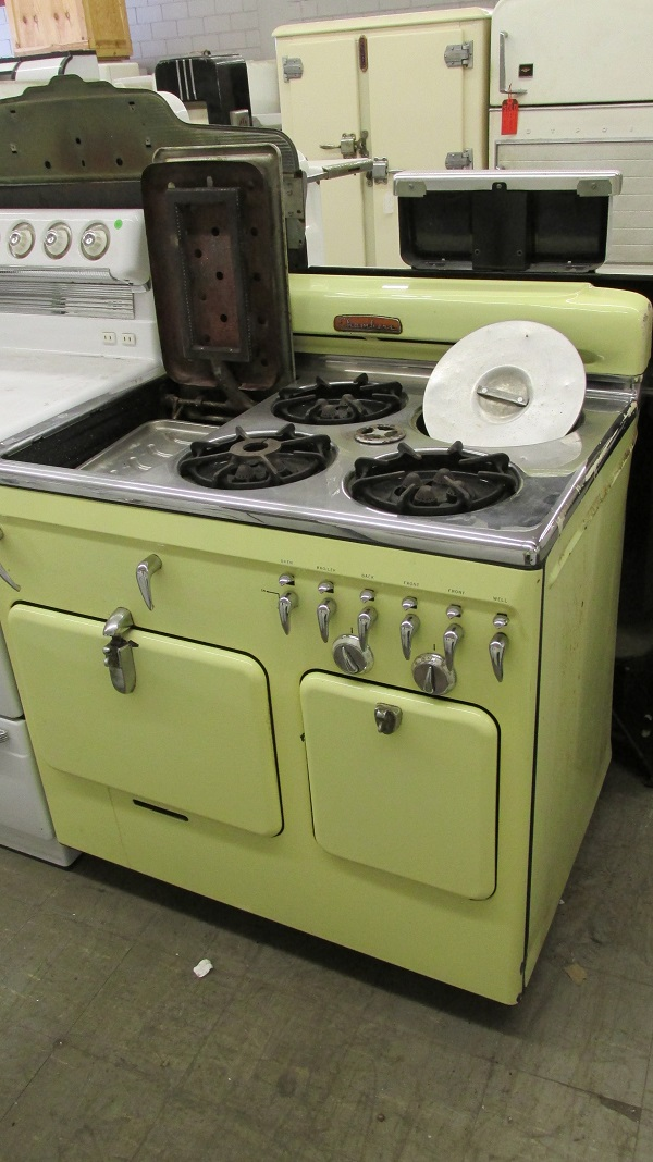 1951 Lowback Yellow Chambers Antique Appliances