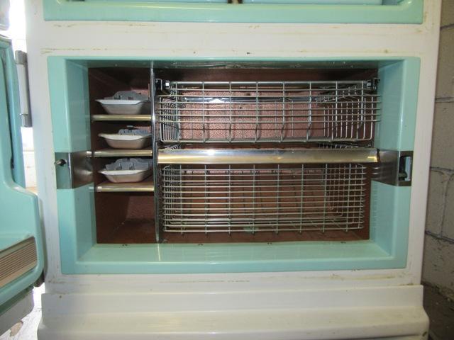 1956 Ge Combo With Bottom Freezer Antique Appliances