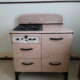1936 Norge Gas Stove beautiful marbled finish (4 Burners, Single Oven, Broiler & 2 Storage Drawers)