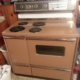 """Matching GE 40"""" Stove and Refrigerator 1950's"""